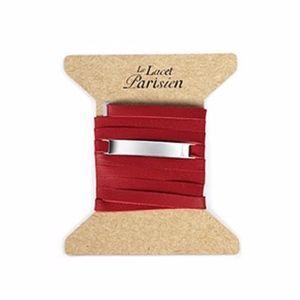 LE LACET PARISIEN Bar Leather Wrap Bracelet